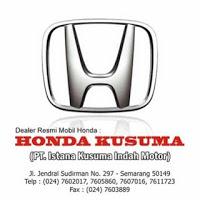 Lowongan Kerja Terbaru di Semarang PT Istana Kusuma Indah Motor (HONDA KUSUMA)