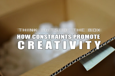 A photo of an opened cardboard box with title text for the subject of this blog post on creativity, image sourced from Flickr under a CC-Share-Alike License Katsuhiro Osabe