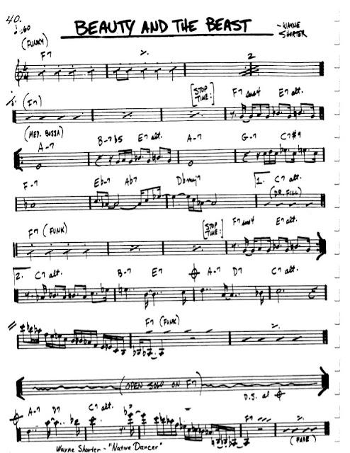 Partitura Violín Wayne Shorter