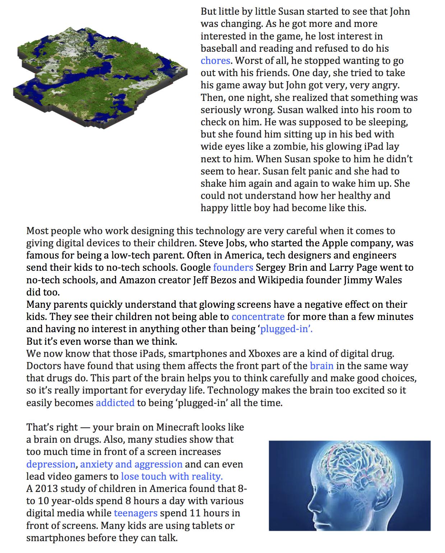 First Year English Reading: 9. Tech Kids Magazine Article