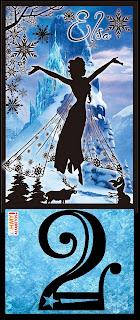 Abecedario con Silueta de Elsa. Elsa Silhouette Alphabet.