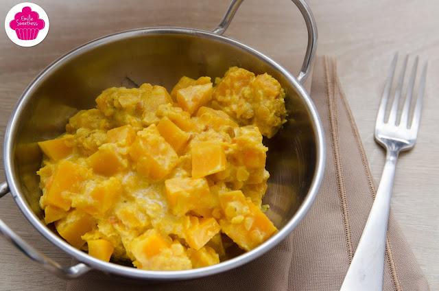 Dahl de butternut et lentilles corail au lait de coco à l'Omnicuiseur