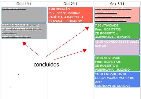 , Novidades GOJUR – Calendário e Processos