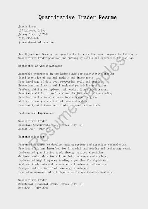 Equity Trader Resume] Equity Trader Resume Equity Trader Resume ...