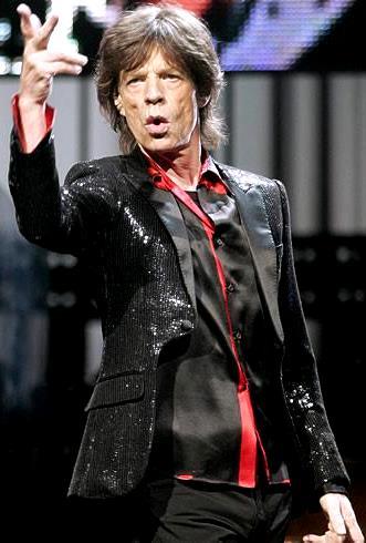 Foto de Mick Jagger en una presentación