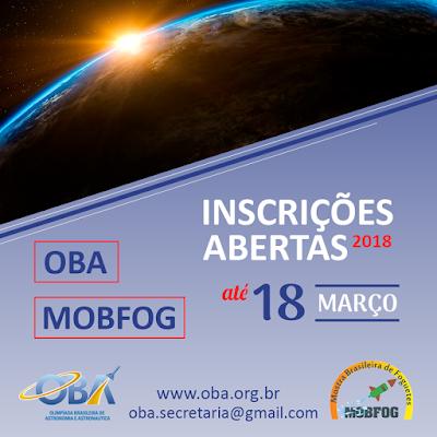 Estão abertas as inscrições para a Olimpíada Brasileira de Astronomia - OBA