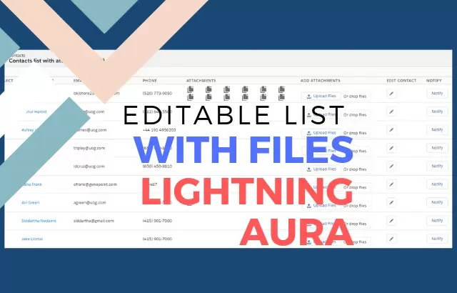 Editable List with files and notify option in Salesforce Lightning