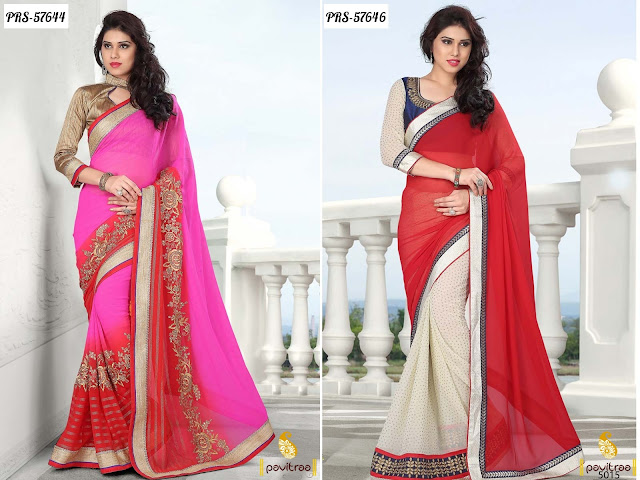Wedding designer fashionable sarees online shopping