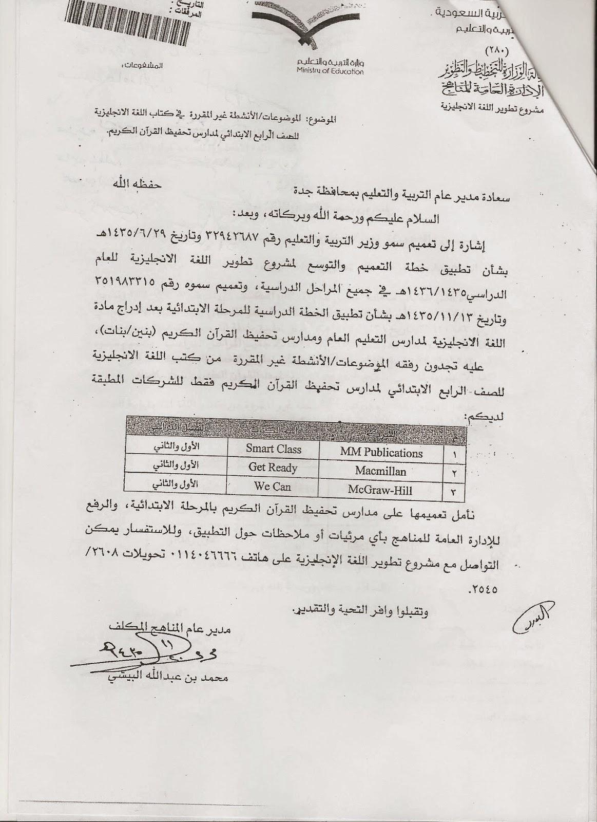 أكتوبر 2014 - شعبة اللغة الإنجليزية بمكتب تعليم حنوب جدة