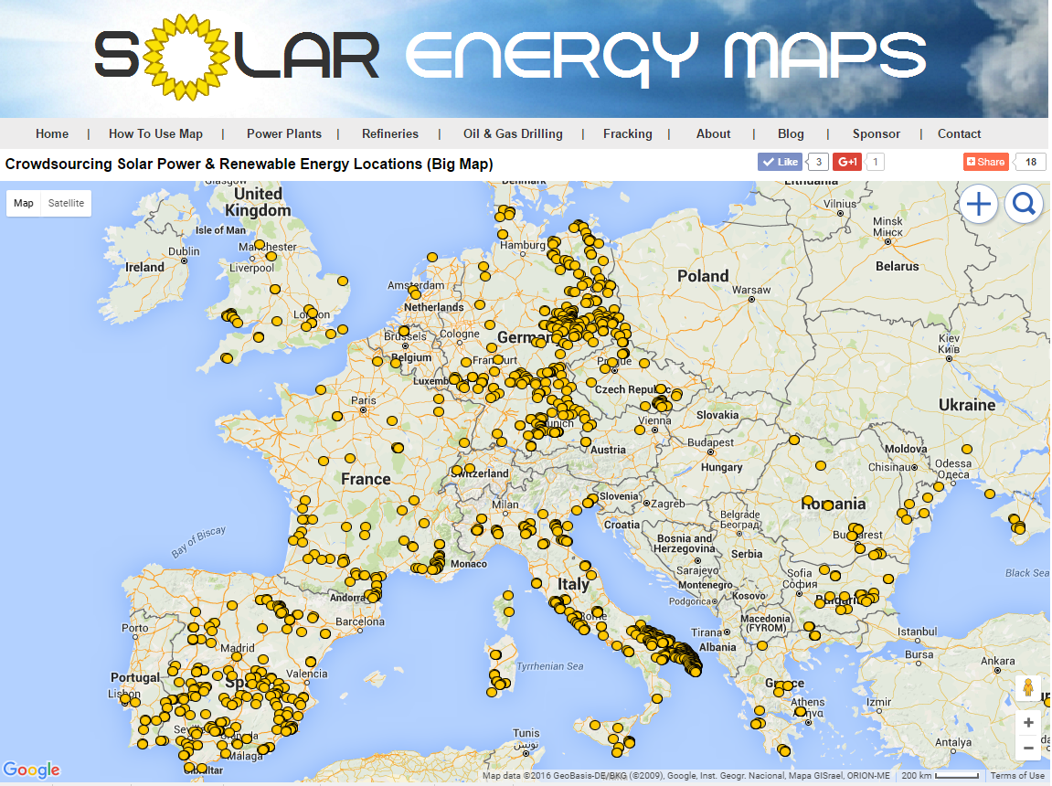 Solar Energy Data Europe Solar Map Solar Farms Amp Solar