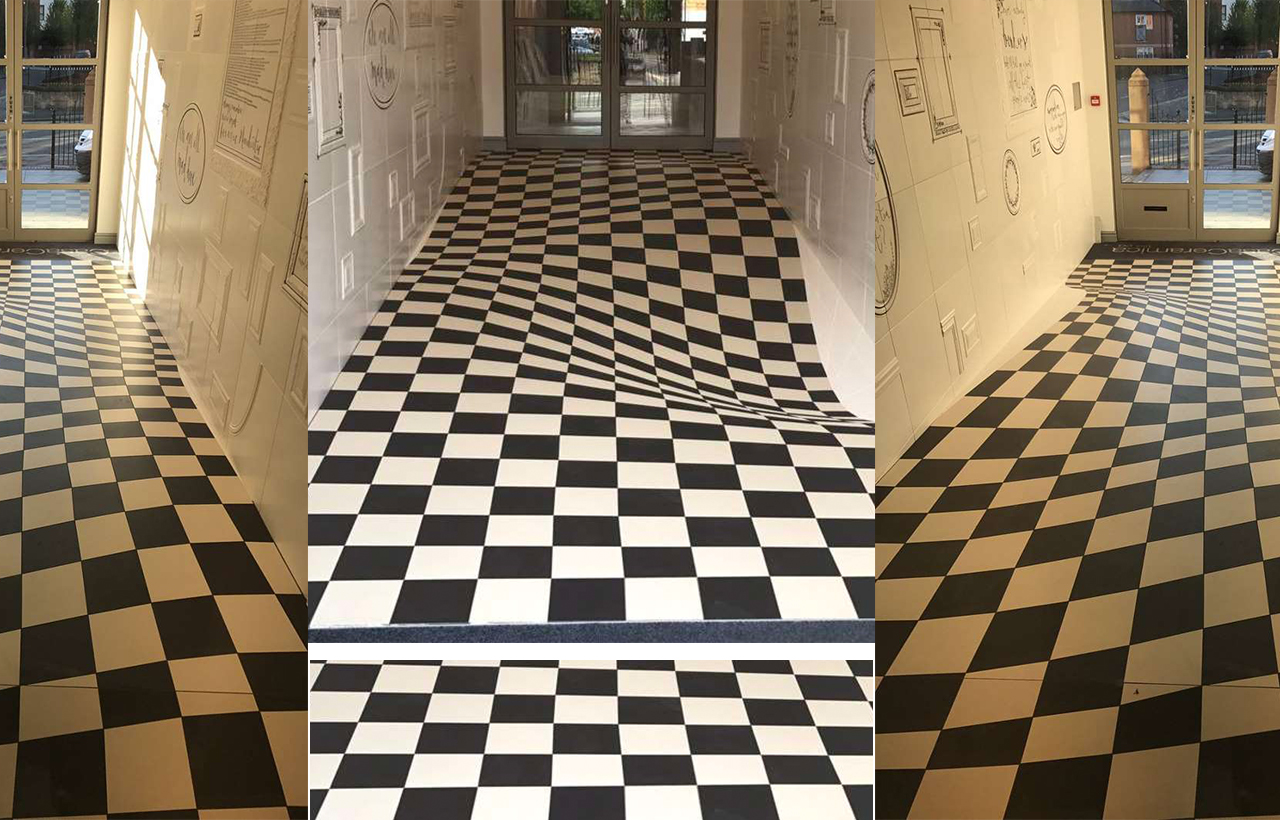 Optical Ilusion floor made of tiles