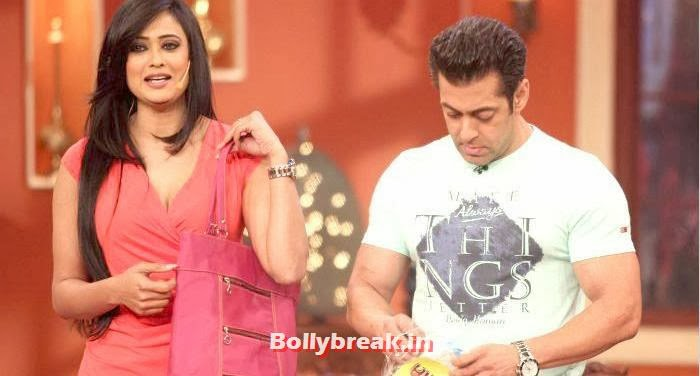 Shweta Tiwari, Salman Khan, Shweta Tiwari in Red Dress on Comedy Nights with Kapil