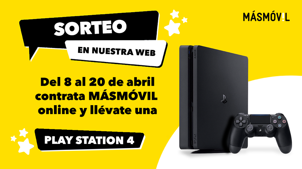 Sorteo MásMóvil PlayStation 4