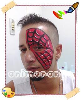 Face Painting Spider Man Pintura Facial Homem Aranha