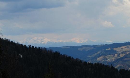 Widok na Tatry z Lichoniowych Gór