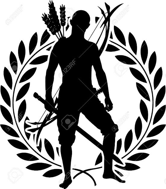 Vector  Fantasy Warrior With Laurel Wreath