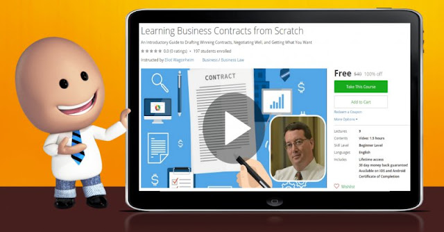 [100% Off] Learning Business Contracts from Scratch| Worth 40$