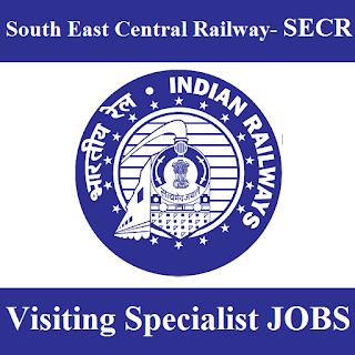 South East Central Railway, SECR, RAILWAY, Railway, Indian Railways, Chattisgarh, Visiting Specialist, Post Graduation, freejobalert, Sarkari Naukri, Latest Jobs, secr logo