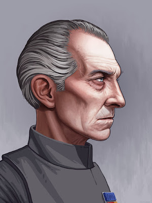 Star Wars Grand Moff Tarkin Portrait Giclee Print by Mike Mitchell x Mondo