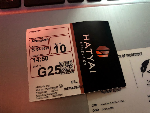 ticket at Central Festival Hatyai
