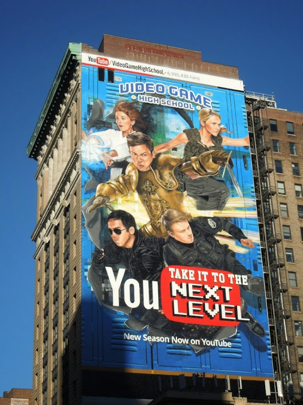 Giant Video Game High School season 3 YouTube billboard
