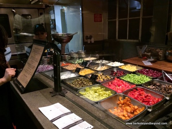 salad bar at Pluto's in Palo Alto, California