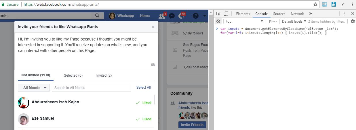 RahmonTech How To Invite All Friends To Like Page On Facebook