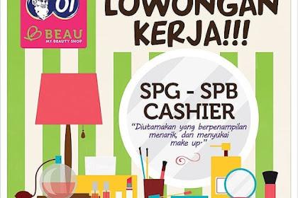 Info Lowongan Kerja SPG SPB Cashier OT Beau Bekasi 2018