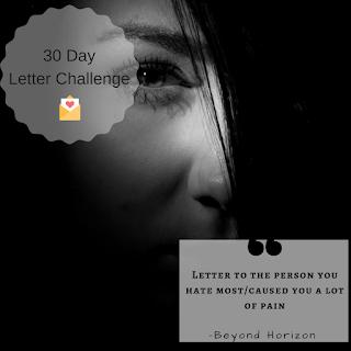 letter writing challenge, girl in dark