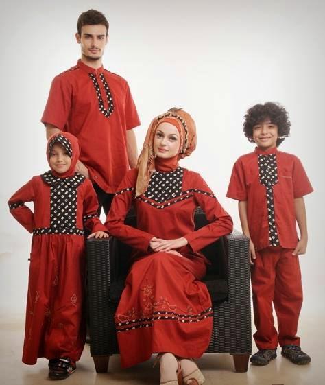 Contoh Model Baju Muslim Lebaran untuk Keluarga