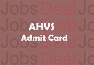 Karnataka AHVS Admit Card 2017