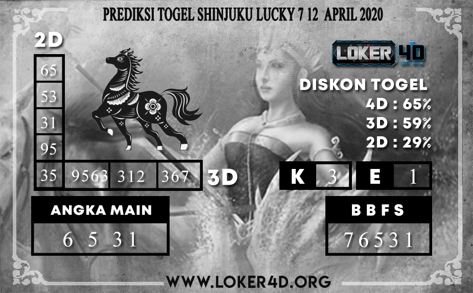 PREDIKSI TOGEL SHINJUKU LUCKY 7 LOKER4D 12 APRIL 2020