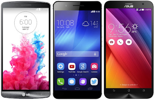LG G3 vs Huawei Honor 6 Plus vs Asus Zenfone 2 ZE551ML