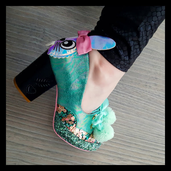 wearing irregular choice green snuggle bunnie