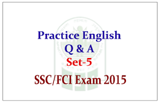 Practice English Questions and Answer for SSC/FCI Exam
