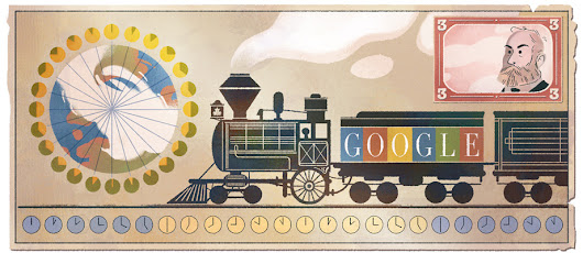Sandford Fleming's 190th Birthday: Google Doodle