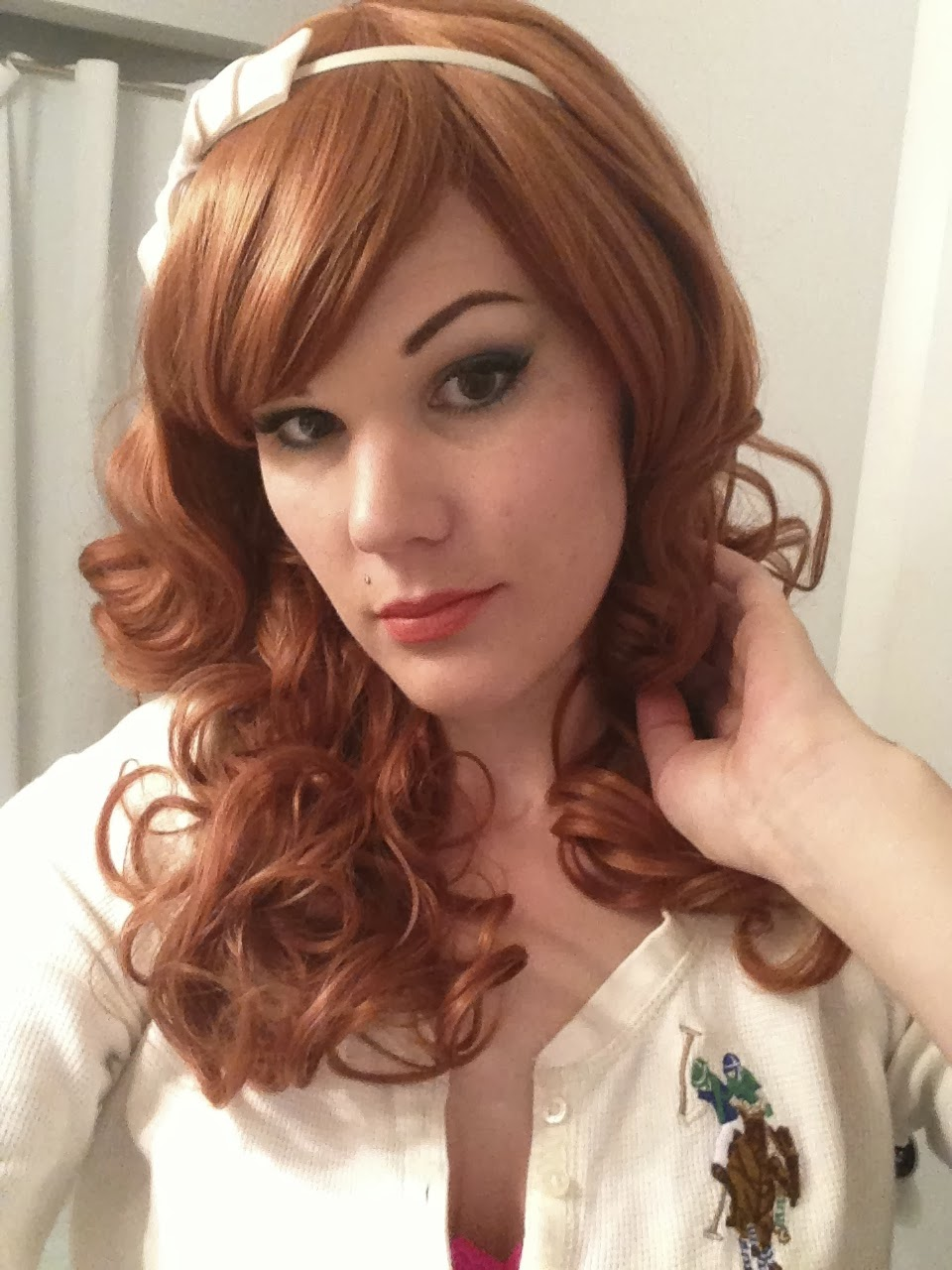 the gilded kitty: look of the day: red hair, green eyes