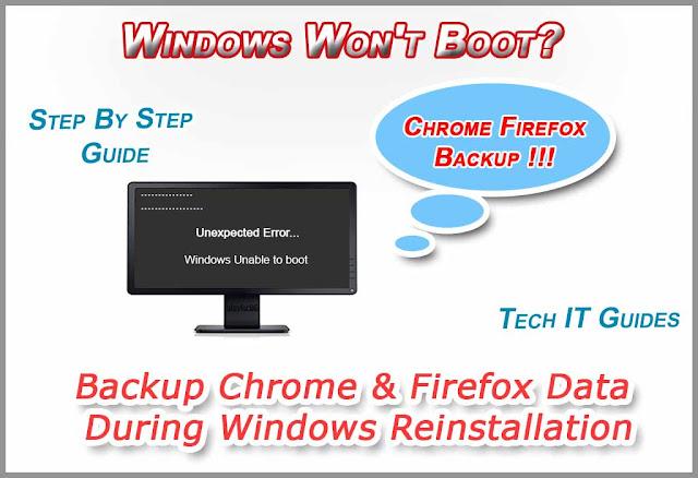 Backup Google Chrome & Firefox Data