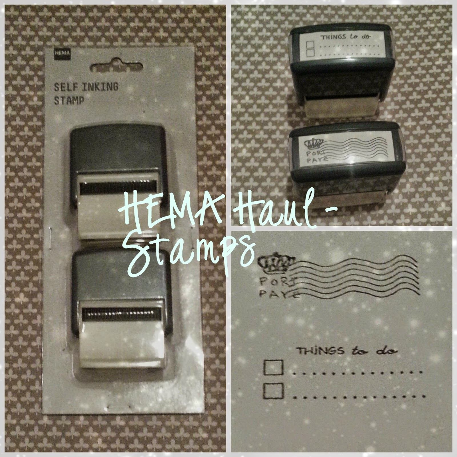 HEMA self inking stamps