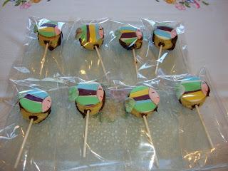 Cake pops sin gluten decorados