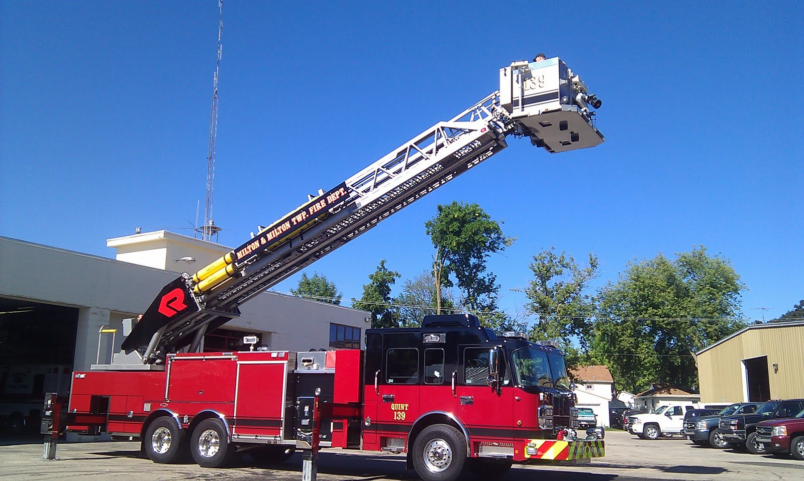 Milton Matters New Ladder Truck At The Fire Department