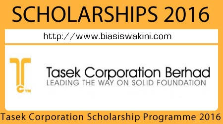 Tasek Corporation Scholarship Programme 2016