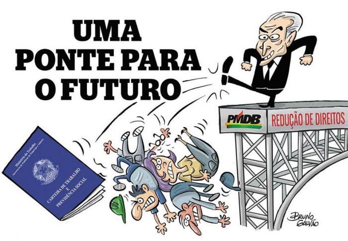 Resultado de imagem para PONTE PARA O FUTURO CHARGES
