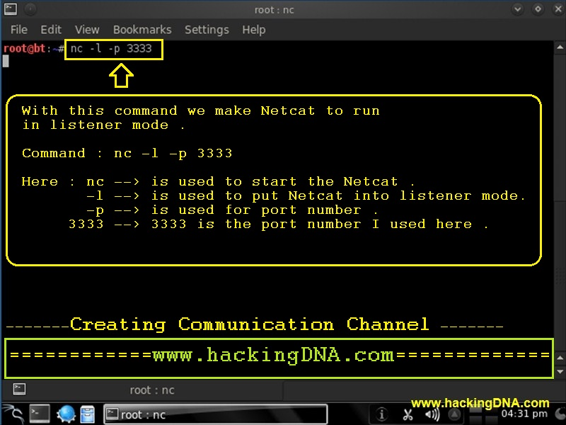 Netcat linux chat