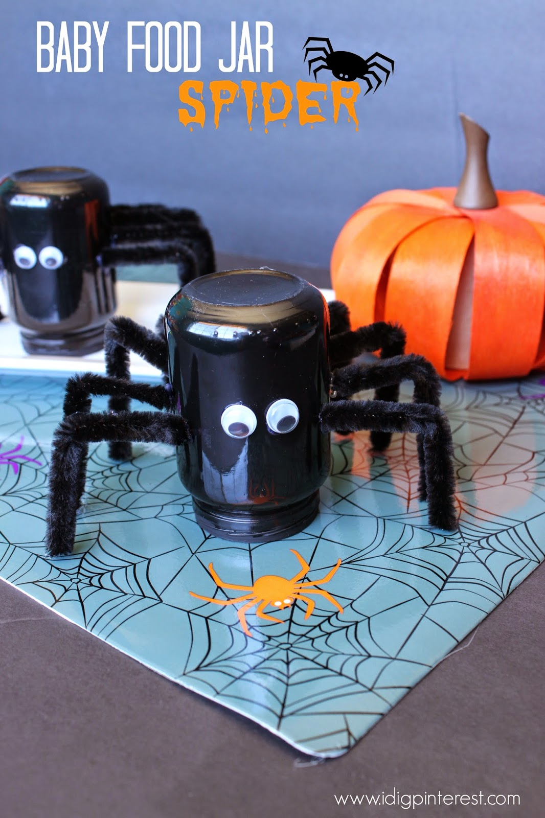 Baby Food Jar Spider Craft I Dig Pinterest
