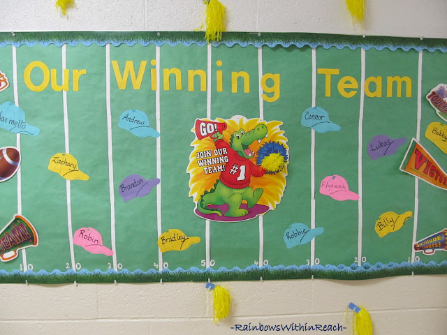 photo of: Our Winning Team Bulletin Board