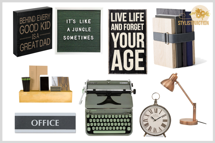 Deco estilo masculino - dia del padre - estilo industrial - nordico - retro - contemporaneo - complementos para un home office bien masculino