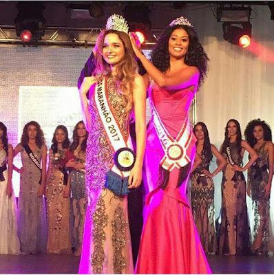 Estudante Beatriz Nazareno, representante de Mata Roma é a nova Miss Maranhão 2017.