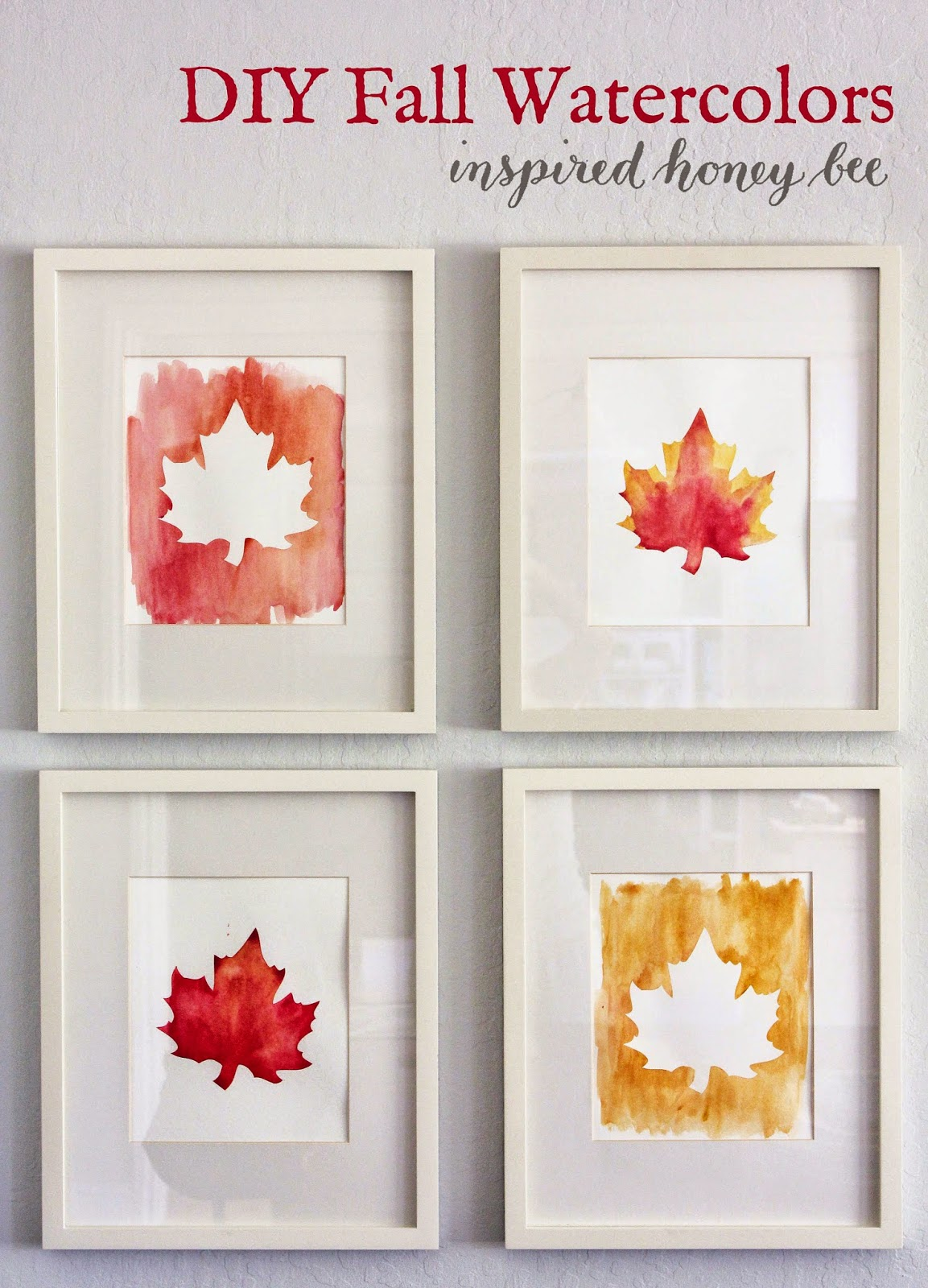 Craft Diy Fall Watercolor Art Inspired Honey Bee