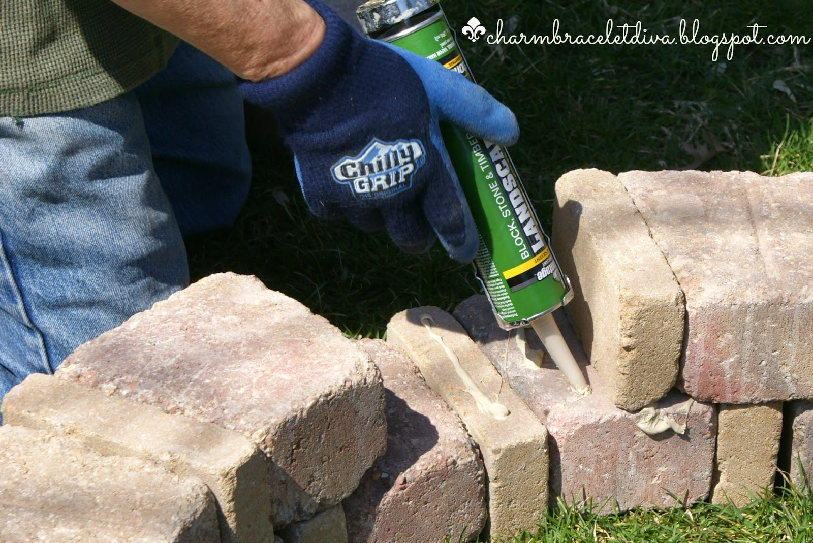 landscape adhesive diy fire pit concrete blocks